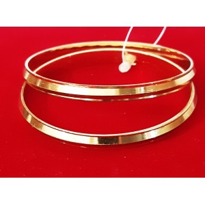 KR GOLD PLATED  & CLASSIC 2 BANGLES OF 1 SET SIZE 2.6