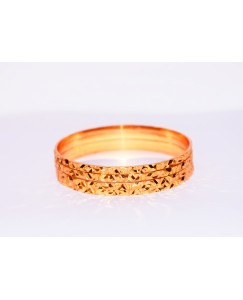KR GOLD PLATED BUTTERFLY DESIGN & THIN 4 BANGLES OF 1 SET SIZE 2.6